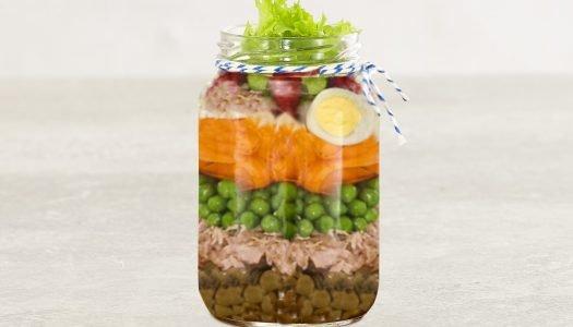 [Receita] Salada com lentilha no pote