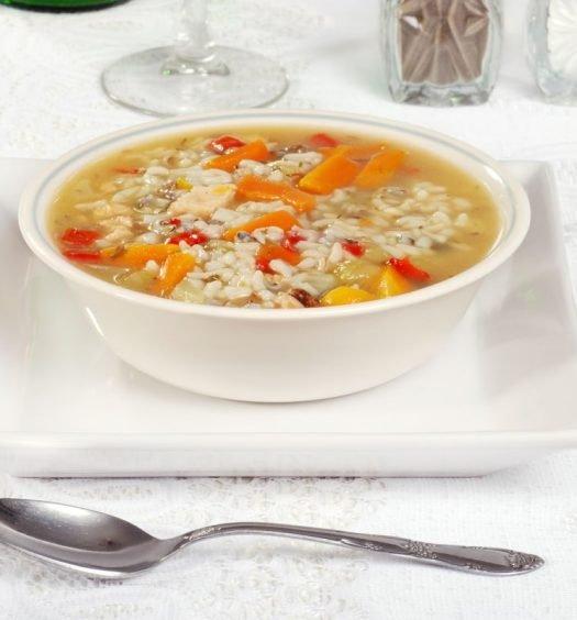 canja de arroz receita