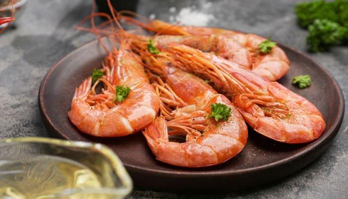 alimentos ricos em zinco camarão