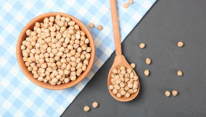 alimentos ricos em zinco grão-de-bico