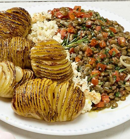lentilha com batatas receita
