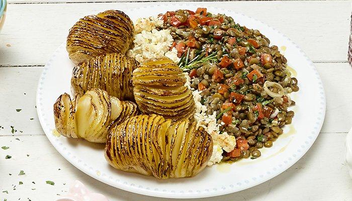 lentilha com batatas