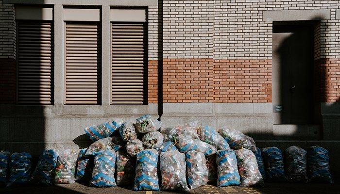 lixo em casa sacos