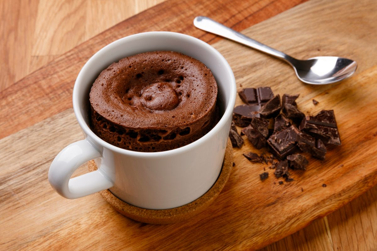 bolo de caneca de chocolate capa