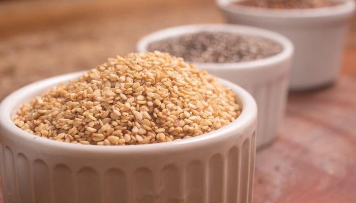 alimentos ricos em cálcio sementes
