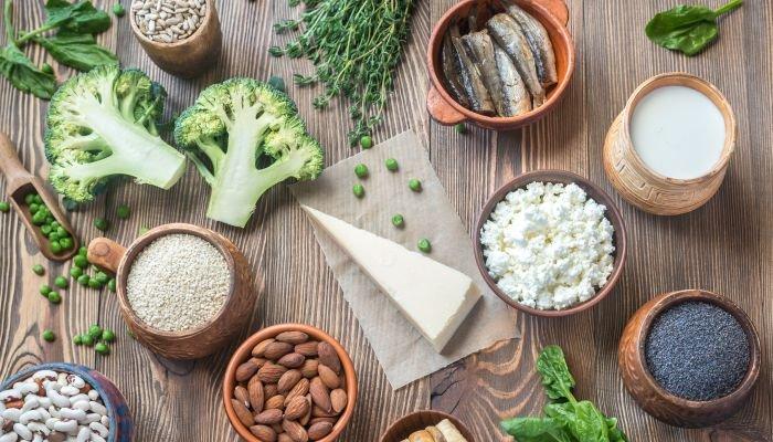 alimentos ricos em cálcio tipos