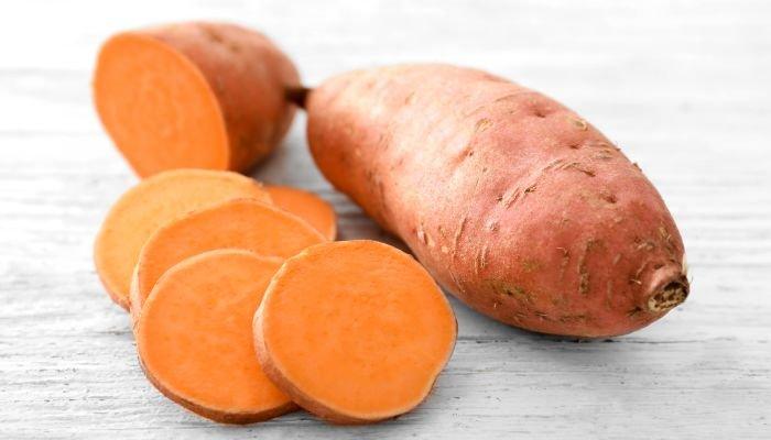 alimentos ricos em potássio batata-doce