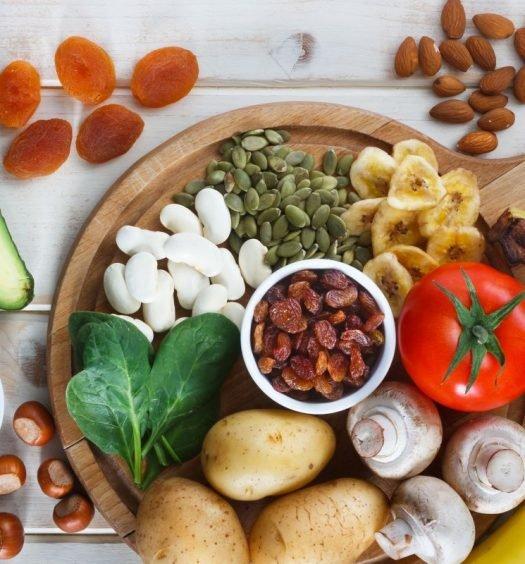 alimentos ricos em potássio capa