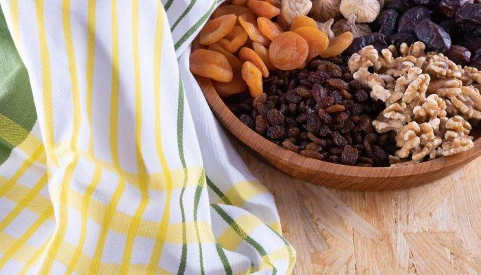 alimentos ricos em potássio frutas secas