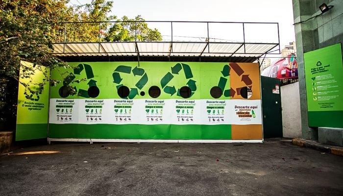 estações de reciclagem descarte