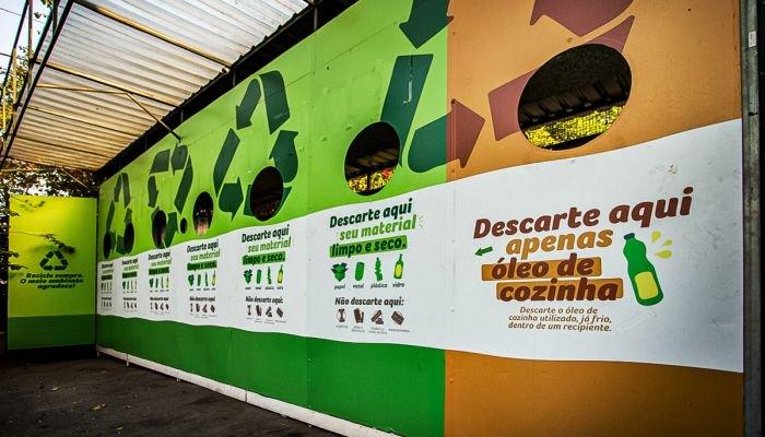 estações de reciclagem materiais