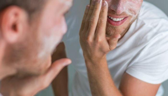 limpeza de pele masculina esfoliar