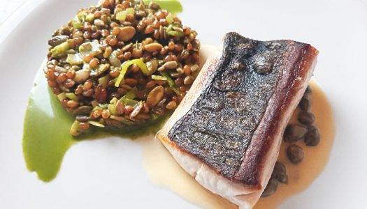 [Receita] Olhete ao molho de alcaparra com trigo em grão e sementes