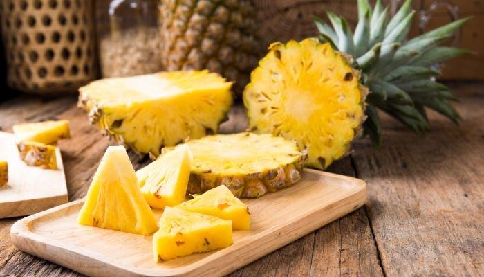 frutas amarelas abacaxi