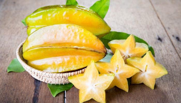 frutas amarelas carambola