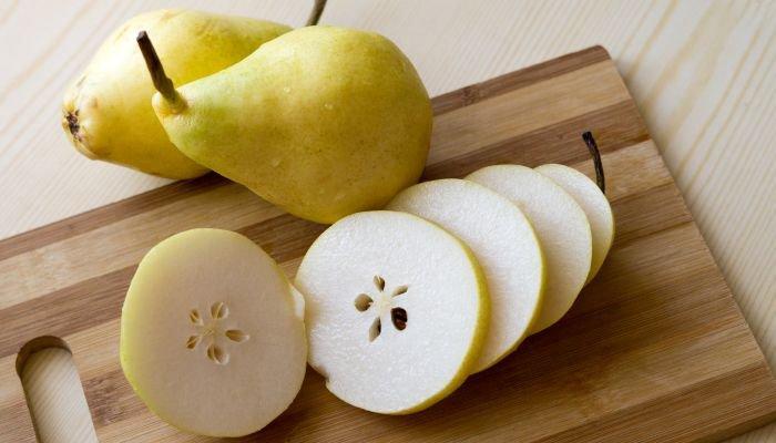 frutas amarelas pera