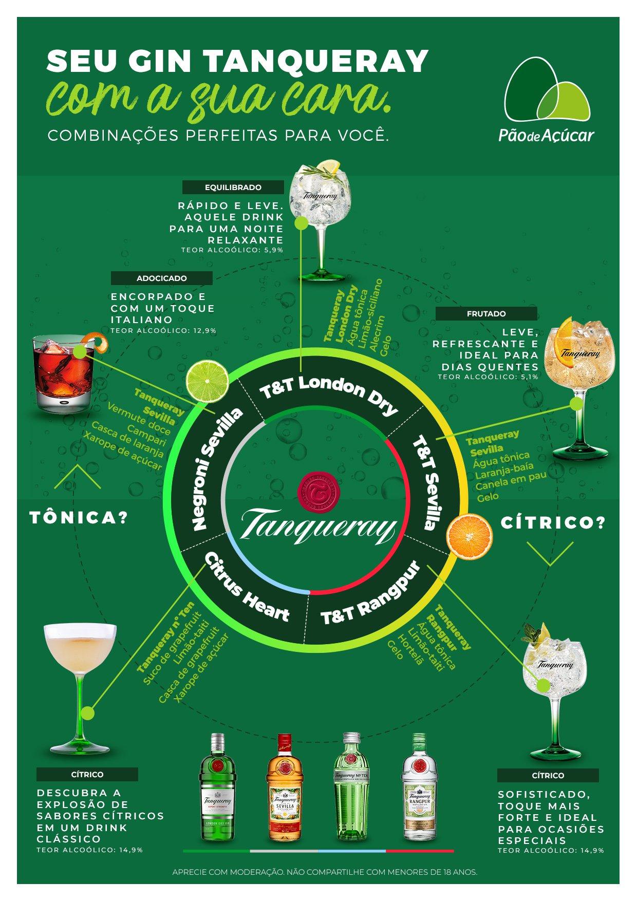 infográfico drinks gin